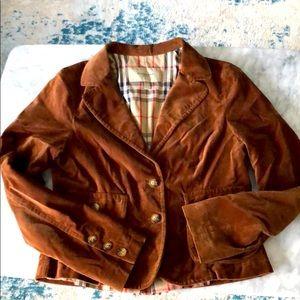 Burberry brown velvet blazer size 8